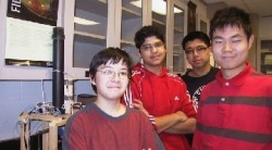 AP Physics lab group.